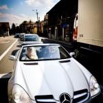 Wynajem Mercedes Cabrio SLK AMG do ślubu